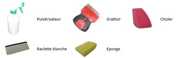 kit de pose pour vitres teintées